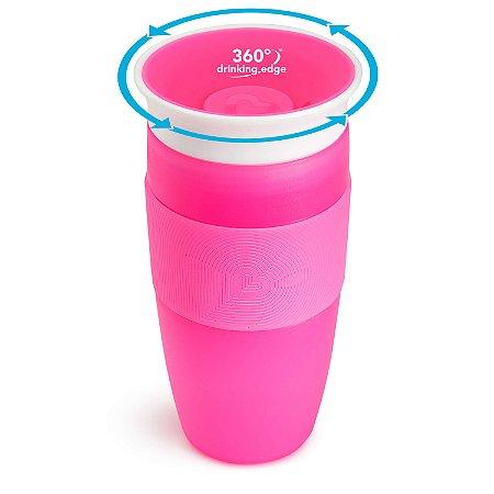 Copo de Treinamento 360 (Miracle Cup) Rosa 414ml - Munchkin