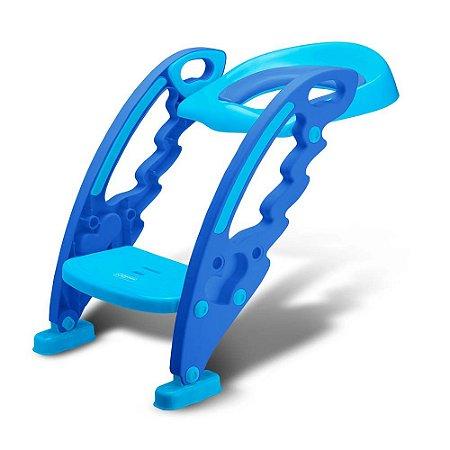 Assento Sanitário Infantil com Escada Azul - Multikids Baby