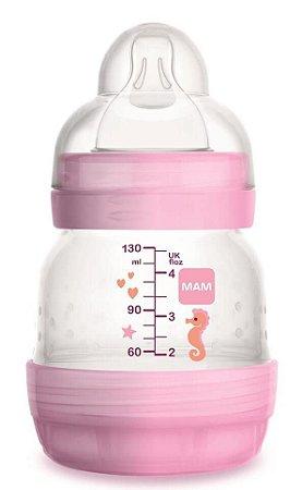 Mamadeira MAM First Bottle Anti-Cólica e Auto-Esterilizável 130ml Menina