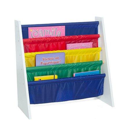 Rack para Livros Infantis Colorido (Biblioteca Kids) - Momis Petit