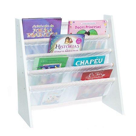 Rack para Livros Infantis Branco (Biblioteca Kids) - Momis Petit