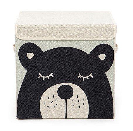 Caixa Organizadora Infantil Linha Animals com Tampa - Urso Abu