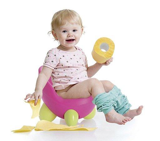 Troninho Infantil 2 em 1 - Troninho e Cadeira Rosa/Azul - Multikids