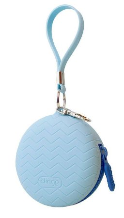 Porta Chupeta de Silicone Azul - Clingo