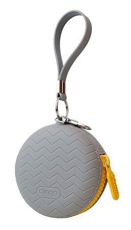 Porta Chupeta de Silicone Cinza - Clingo