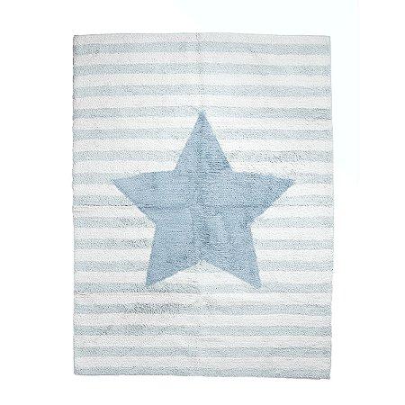 Tapete Infantil Lavável Estrela Azul - Bupbaby