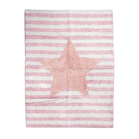 Tapete Infantil Lavável Estrela Rosa - Bupbaby
