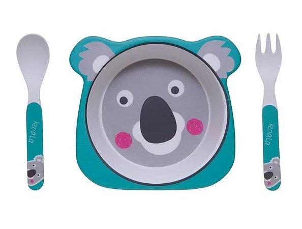 Kit Alimentação ECO Fibra de Bambu (03 Peças) Coala - Girotondo Baby