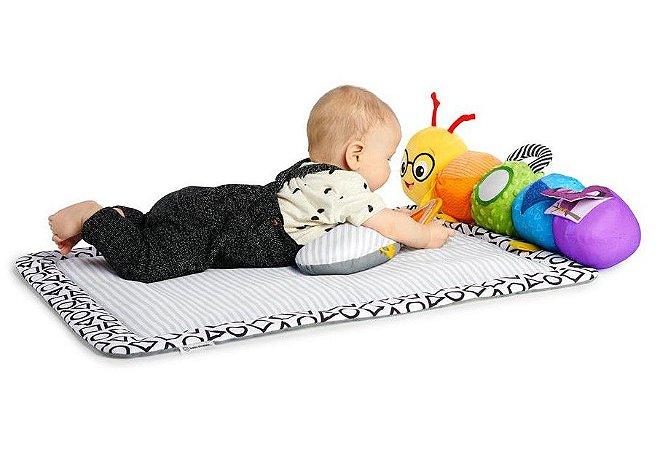 Tapete de Atividades 3-in-1 Travel Pillar Tummy com Lagarta Sensorial - Baby Einstein