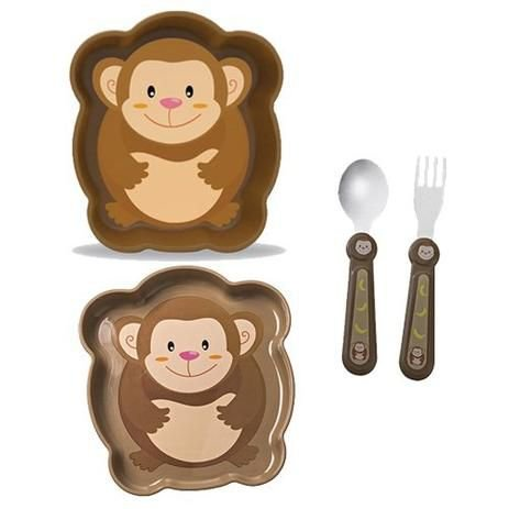 Kit Alimentação ZOO Macaco - Girotondo Baby