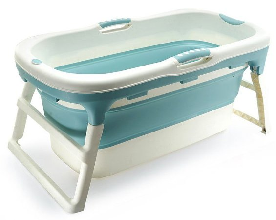 Banheira Dobrável Ofurô Luxo Grande Azul ( 10 meses à 80Kg ) - Baby Pil