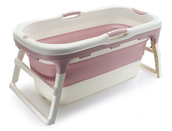 Banheira Dobrável Ofurô Luxo Grande Rosa ( 10 meses à 80Kg ) - Baby Pil