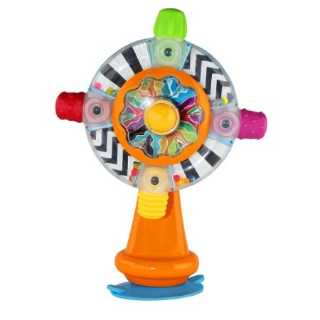 Brinquedo Interativo Roda Giratória com Chocalho e Base de Sucção - Infantino
