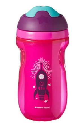 Copo Térmico com Bico Drinking Cup Rosa e Verde - Tommee Tippee