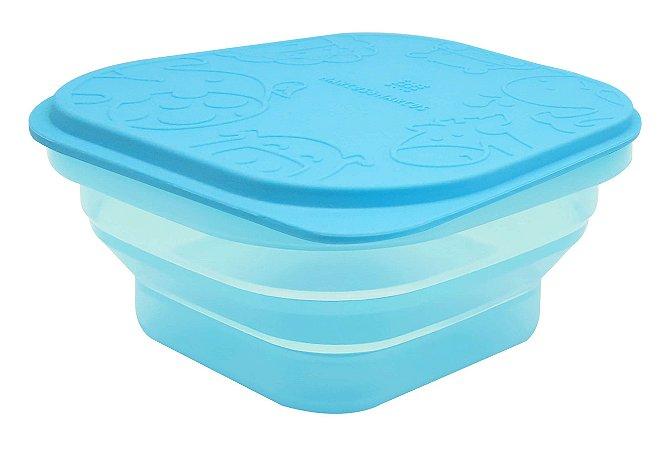 Marmitinha Container Dobrável em Silicone Hipopótamo - Marcus & Marcus