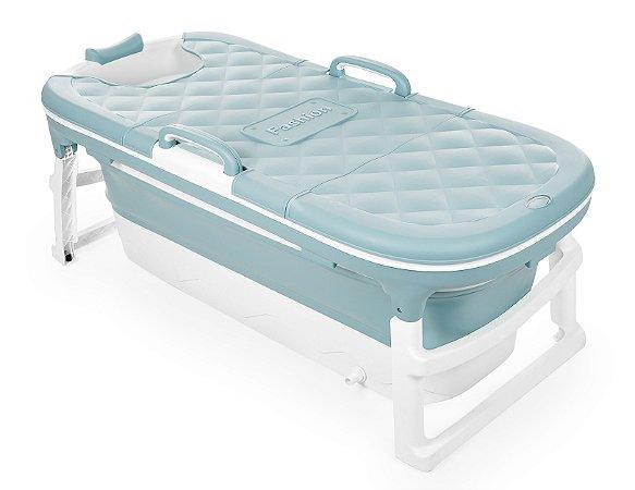 Banheira Dobrável Ofurô Luxo Extra Grande Azul ( 10 meses à 90Kg ) - Baby Pil