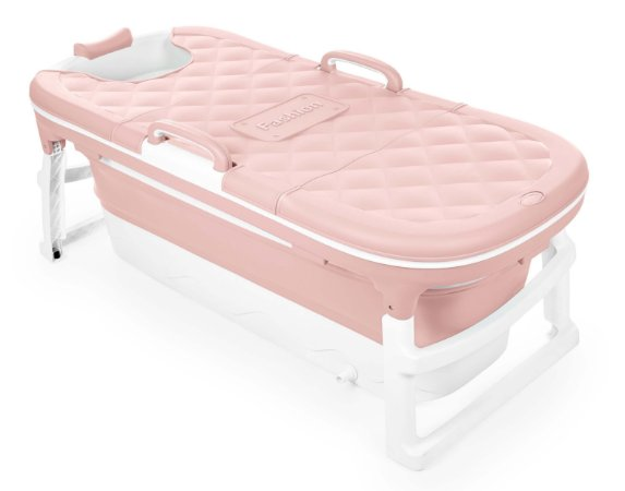 Banheira Dobrável Ofurô Luxo Extra Grande Rosa ( 10 meses à 90Kg ) - Baby Pil