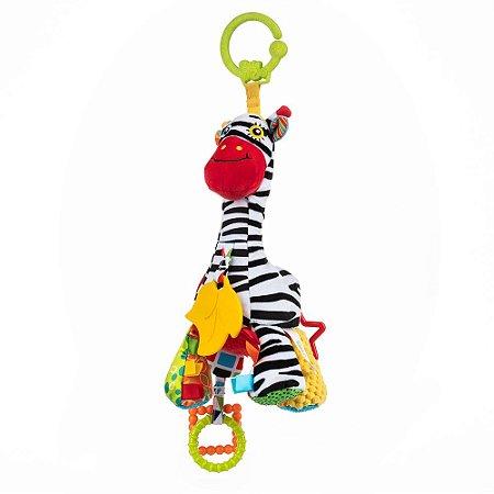Pelúcia de Atividades Musical Pull String Zebra Zoya - Balibazoo