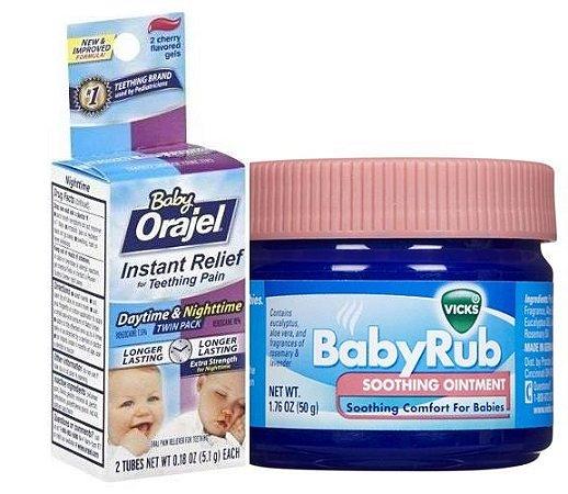 Vick Baby Rub - Pomada Anti Tosse + Orajel Nighttime & Daytime