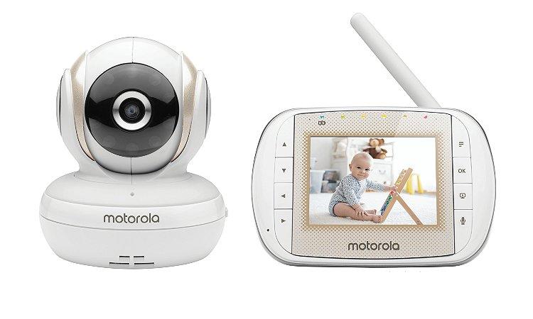 """Babá Eletrônica Motorola MBP30A Tela de 3"""" Alcance de até 300m com Visor Colorido e Visão Noturna - Motorola"""