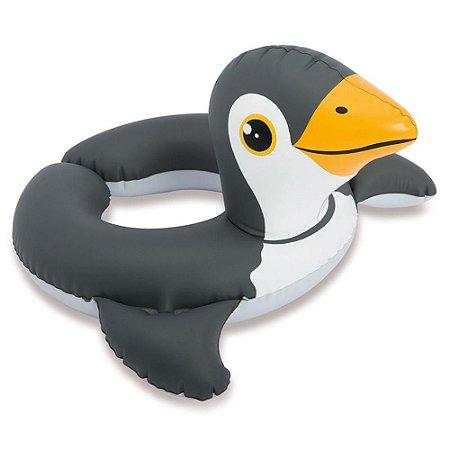 Boia Inflável com Cabeça Média ZOO Pinguim - Intex