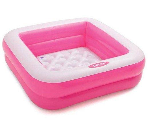 Piscina Inflável Infantil Soft 57L Rosa - Intex