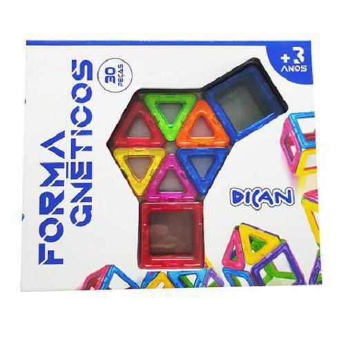 Blocos de Montar em Formas Magnéticas 30 peças - Dican