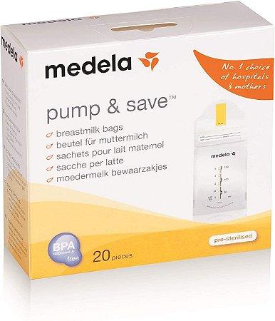 Bolsa para Coleta e Armazenamento de Leite Materno Pump & Safe com 20 Unidades - Medela
