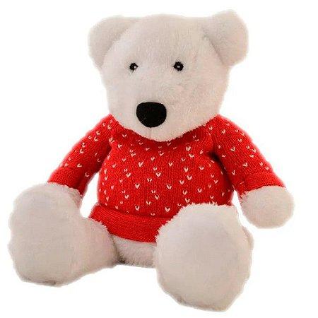Pelúcia Térmica para Alívio das Cólicas e Aconchego com Aroma Calmante Urso Polar - Cozy Plush
