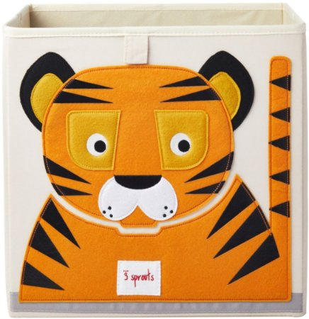 Organizador Infantil Quadrado Tigre - 3 Sprouts