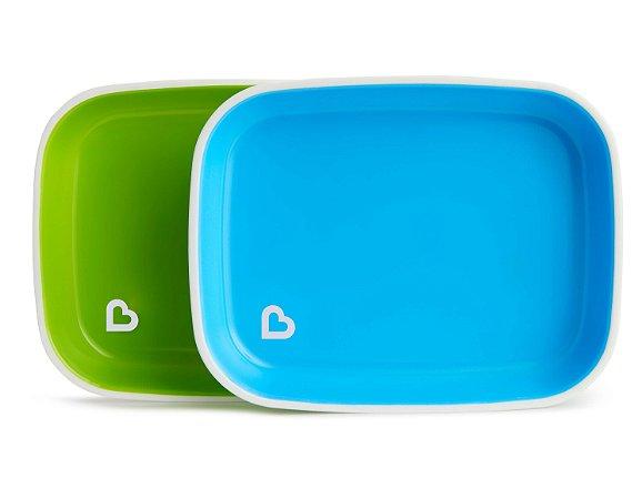 Conjunto de Pratos Azul e Verde - Munchkin
