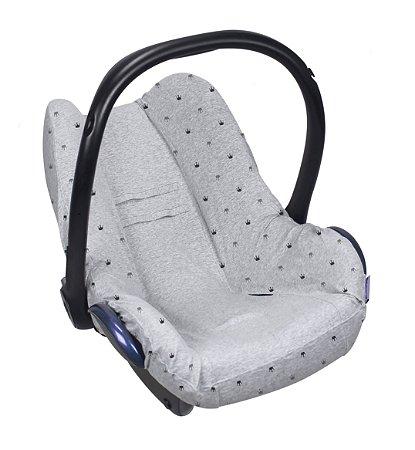 Capa para Bebê Conforto Seat Cover Coroas Cinza Claro - Dooky