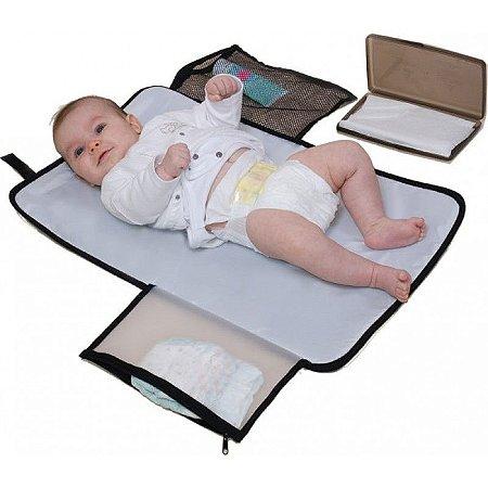 Trocador de Bebê Portátil com Porta Lenço Change Eze Marrom - Jolly Jumper