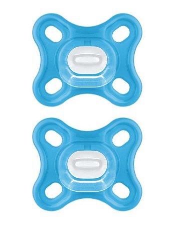 Chupeta MAM Comfort 0 a 2 meses (02 unidades) Azul - MAM