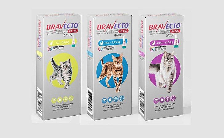 BRAVECTO PLUS CAT 1 DOSE 112,5 MG - 1,2 A 1,8 KG
