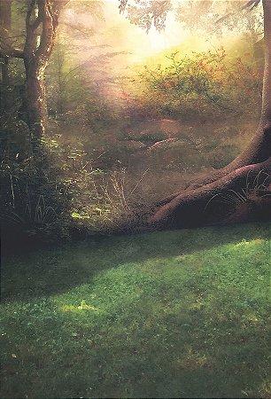 Fundo Fotográfico em Tecido Tema Forest