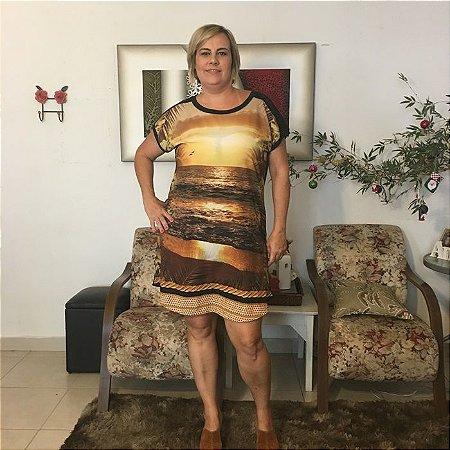 Vestido Paisagem Plus Size