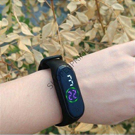 Relógio Digital M4 Led Esportivo A prova água Pulseira M4 M3 colorida Adulto infantil feminino masculino Unissex