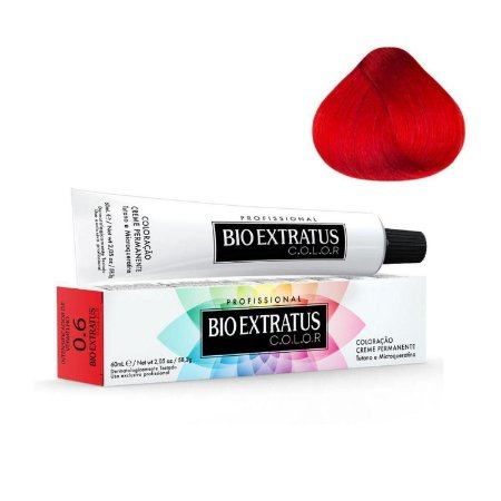 Coloração Bio Extratus Color 60ml 0.6 Intensificador de Vermelho