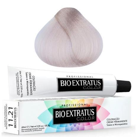 Coloração Bio Extratus Color 60ml 11.21 Louro Platinado Irisado Acinzentado