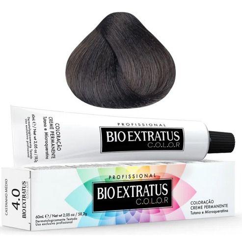 Coloração Bio Extratus Color 60ml 4.0 Castanho Médio