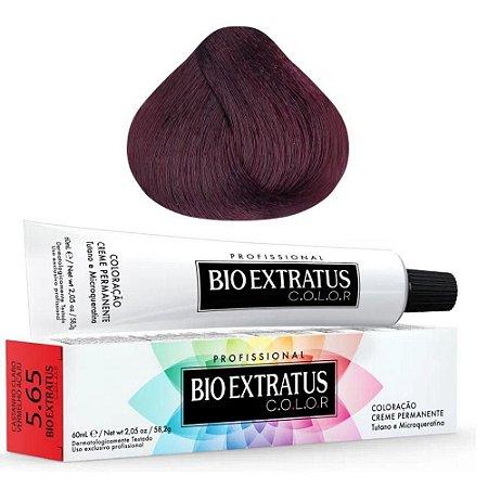 Coloração Bio Extratus Color 60ml 5.65 - Castanho Claro Vermelho Acaju