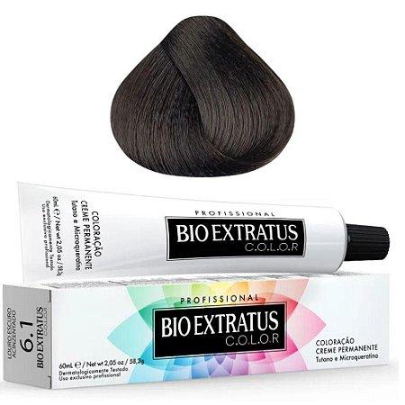Coloração Bio Extratus Color 60ml 6.1 Louro Escuro Acinzentado