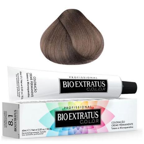 Coloração Bio Extratus Color 60ml 8.1 Louro Claro Acinzentado