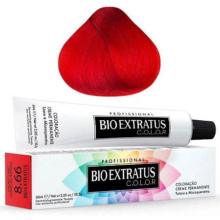 Coloração Bio Extratus Color 60ml 8.66 Louro Claro Vermelho Intenso