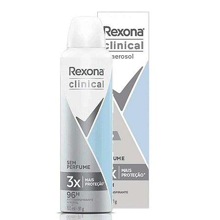 Desodorante Rexona Clinical Clean Sem Perfume Aerosol 150ml