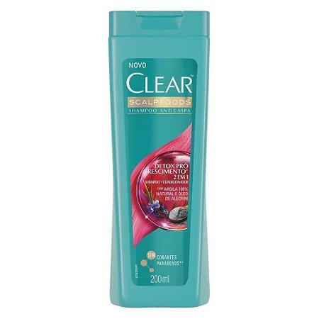 Shampoo Clear Detox Crescimento 200ml