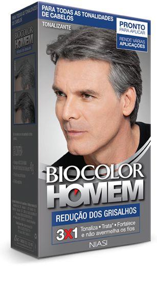 Tonalizante Biocolor Homem Redução dos Grisalhos
