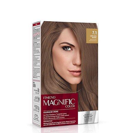 Magnific Color Kit 7.1 Louro Cinza Natural Amend