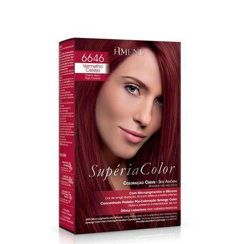 Tonalizante Supéria Color Sem Amônia 6646 Vermelho Cereja Amend